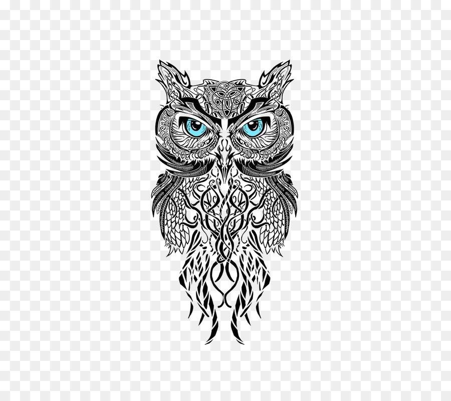 Coruja Tatuagem Desenho Png Transparente Gratis