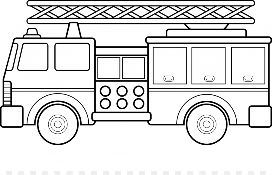 Carro Bombeiros Livro De Colorir Png Transparente Gratis