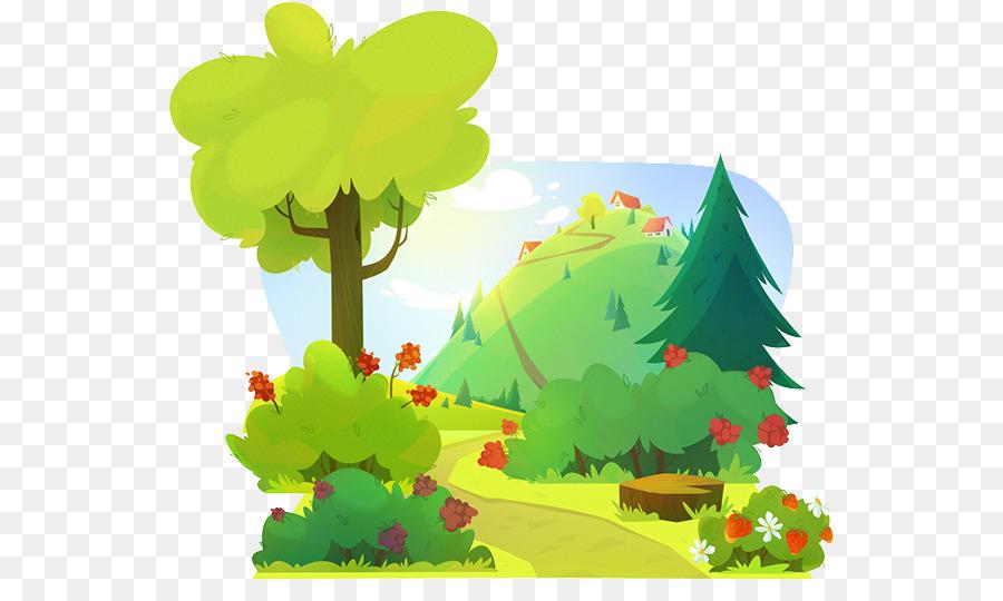 Cartoon Floresta Desenho Png Transparente Gratis