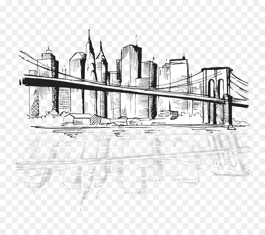 A Cidade De Nova York Desenho Silhueta Png Transparente Gratis