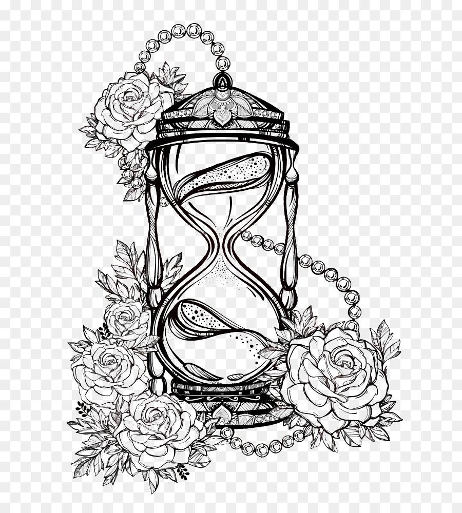 Desenho Ampulheta Rosa Png Transparente Gratis