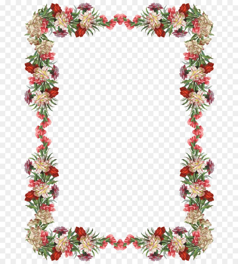 Borda Flores Flor Molduras Png Transparente Gratis