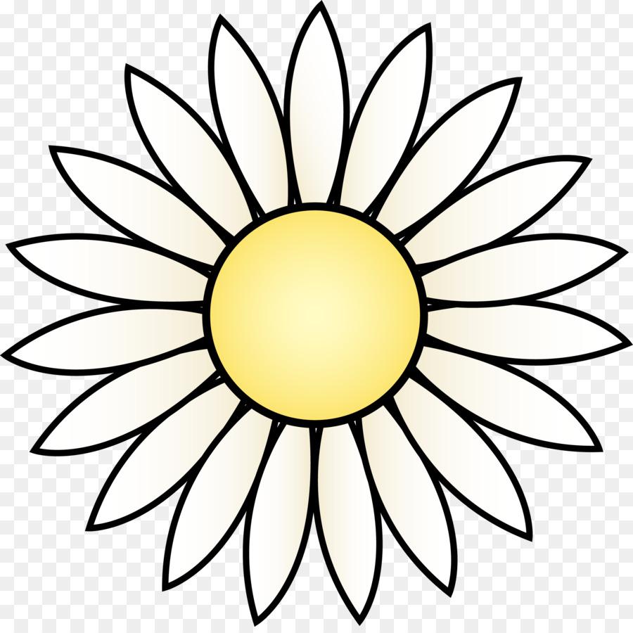 Comum De Girassol Desenho Branco Png Transparente Gratis