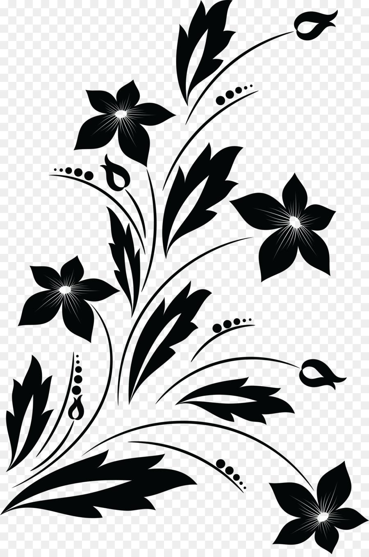Flor Desenho Preto E Branco Png Transparente Gratis