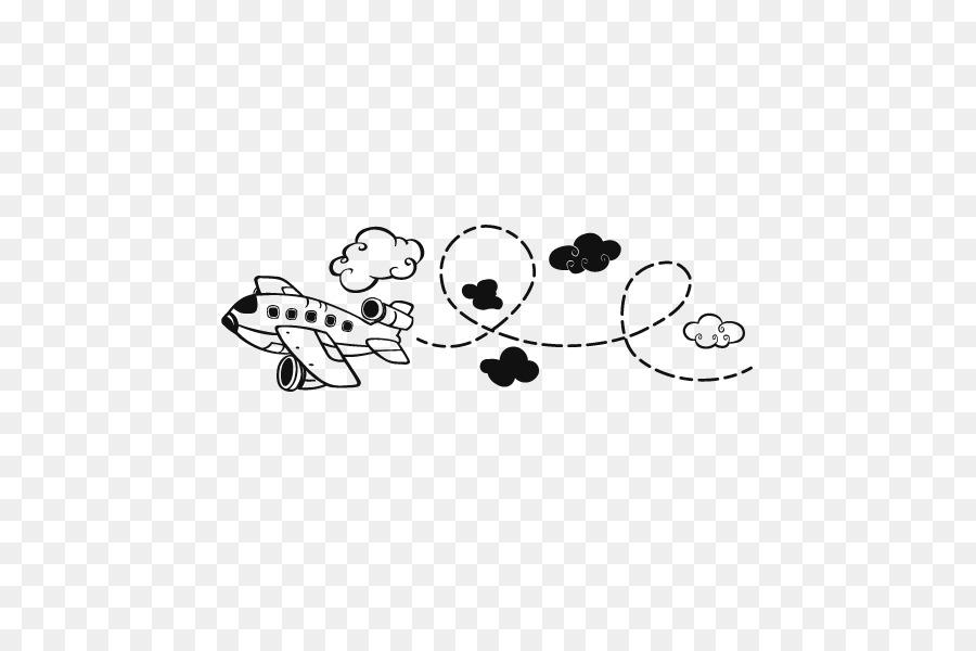 Cabeceira De Aviao Vinil Grupo De Desenho Infantil Vetor