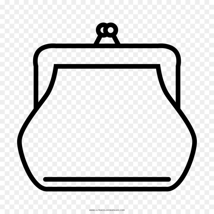 Bolsa Da Moeda Desenho Livro De Colorir Png Transparente Gratis