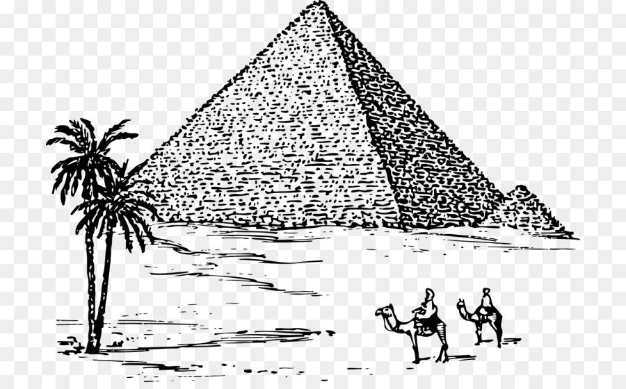 Grande Piramide De Gize Piramides Do Egito Desenho Png