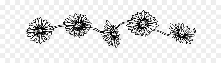 Preto E Branco Desenho Flor Png Transparente Grátis