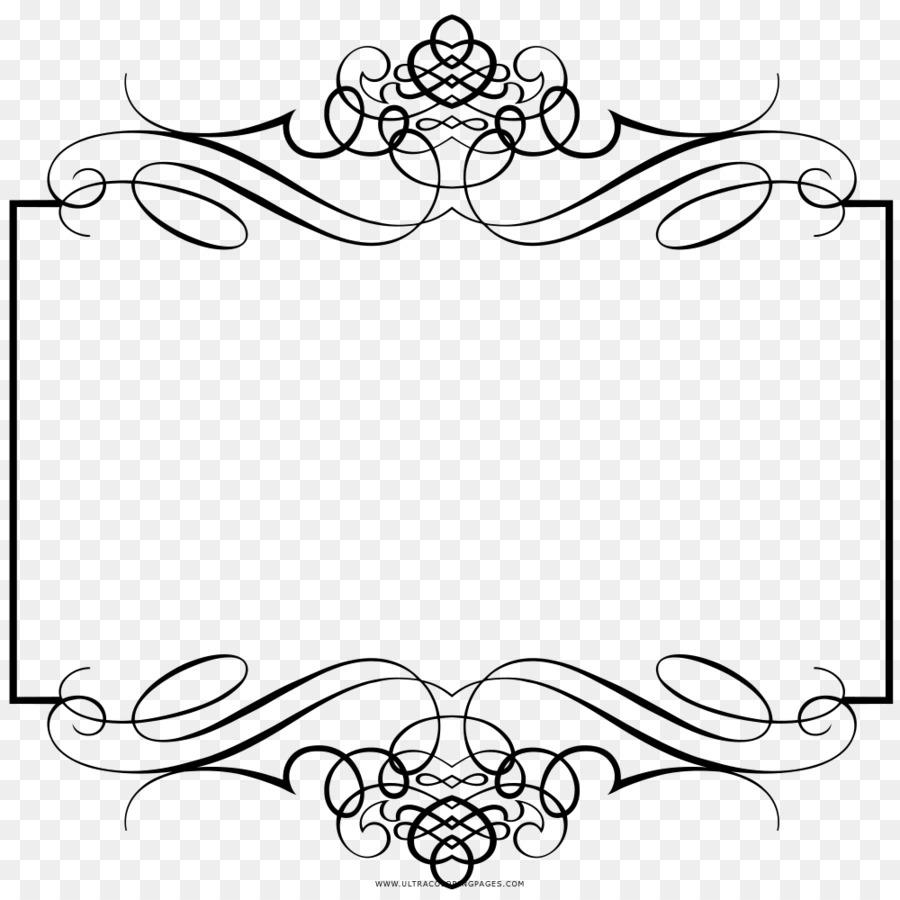 Convite De Casamento Livro De Colorir Molduras Png Transparente
