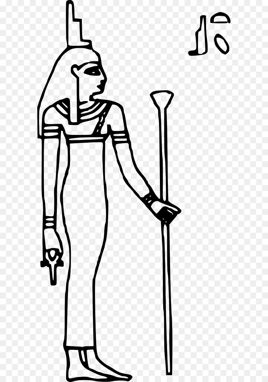 Egito Antigo Isis Livro De Colorir Png Transparente Gratis