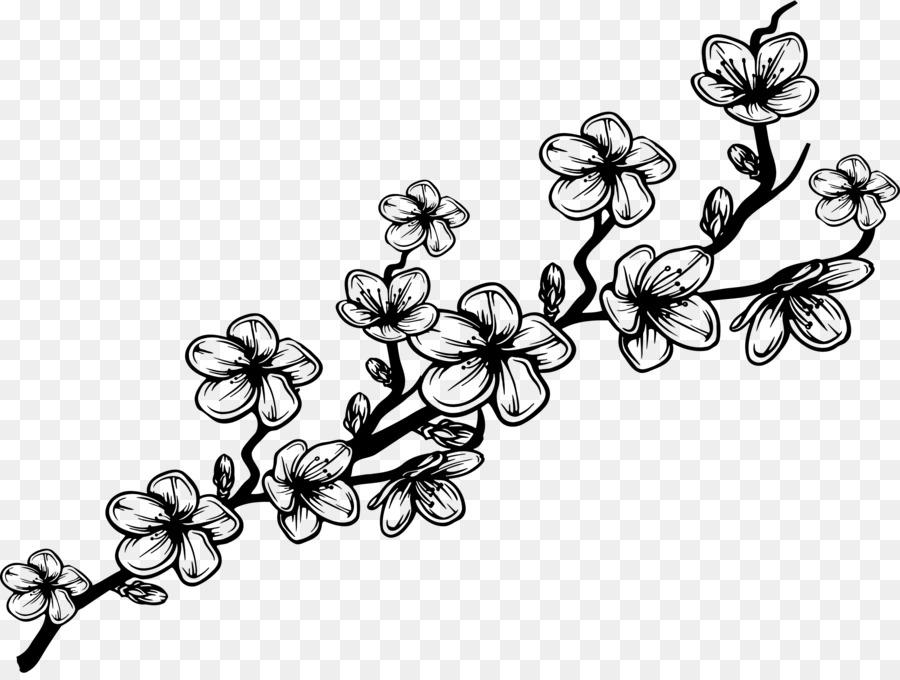 Desenho Flor Galho Png Transparente Gratis