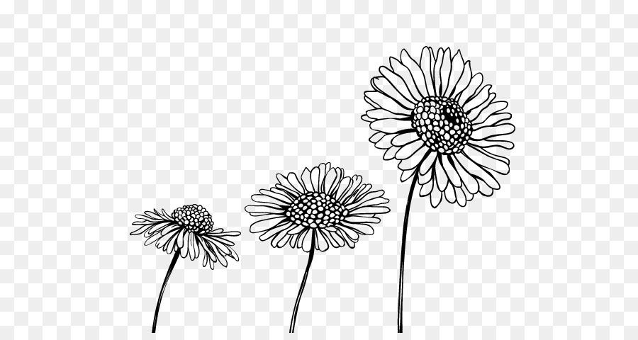 Desenho Flor Preto E Branco Png Transparente Grátis