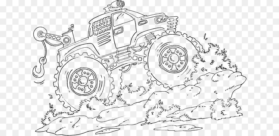 Monster Truck, Carro, Livro De Colorir