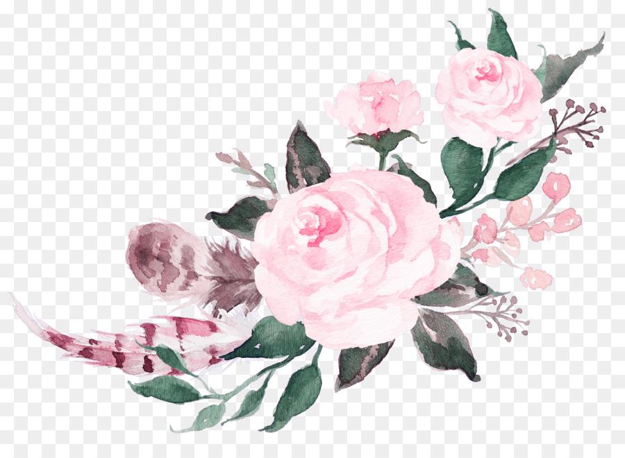 Aquarela Flores Pintura Em Aquarela Flores Cor De Rosa