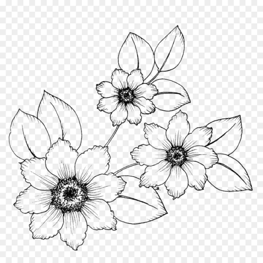 Desenho Flor Livro De Colorir Png Transparente Grátis