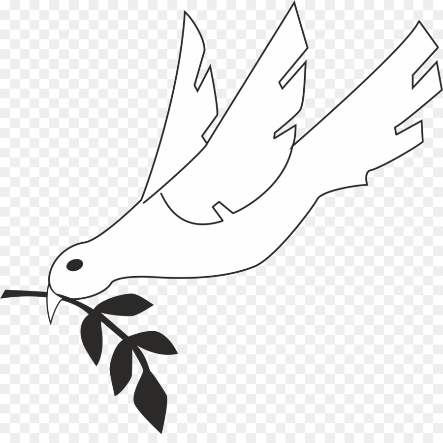 Pombas Como Simbolos De Clipe De Arte Do Espirito Santo Espirito