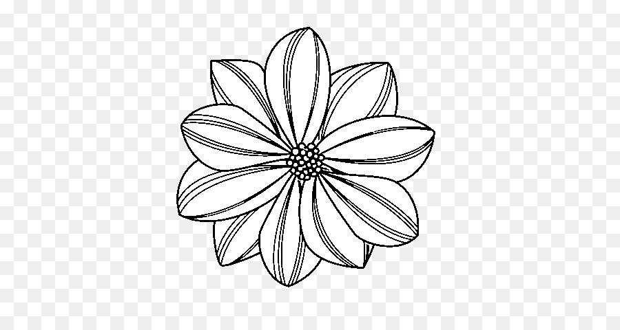 Desenho De Clip Art Livro De Colorir Comum Margarida Flor