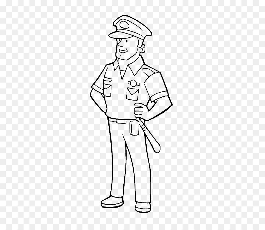 Desenho Policial Livro De Colorir Png Transparente Gratis